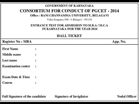 Pgcet 2014 Mba by Karnataka Pgcet 2014 Admit Card Careerindia