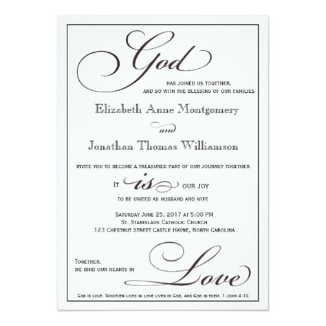 god is love christian script wedding invitation zazzle