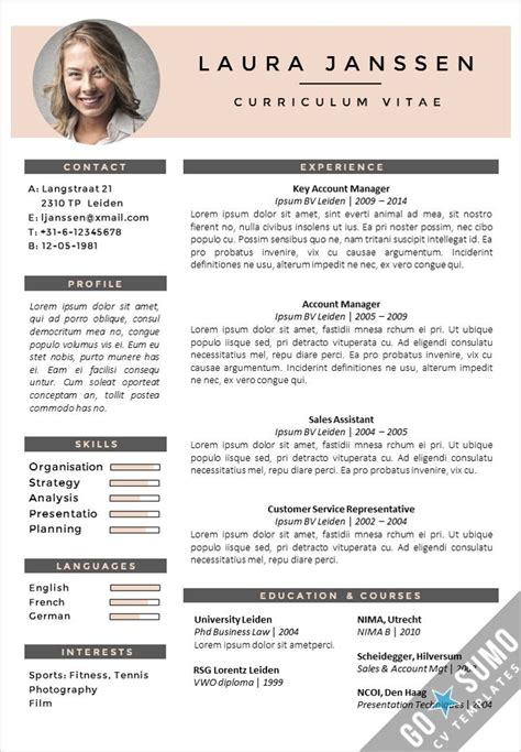 creative cv layout template creative cv template fully editable in word and