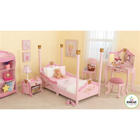 princess toddler bedroom set kidkraft princess toddler four poster customizable bedroom