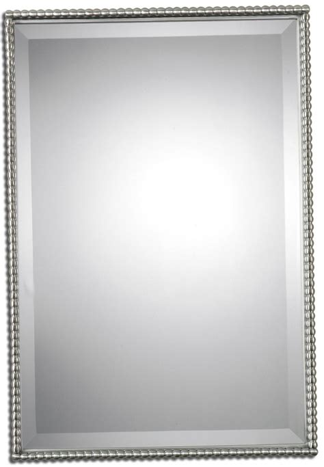 bathroom mirror brushed nickel fresh brushed nickel pivot bathroom mirror 20727