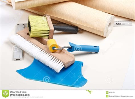 wallpapering tools stock photography image 8235202