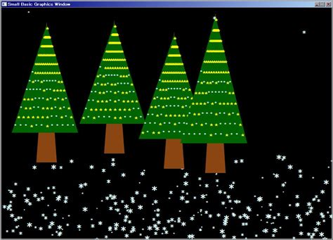christmas trees small basic featured programs small basic