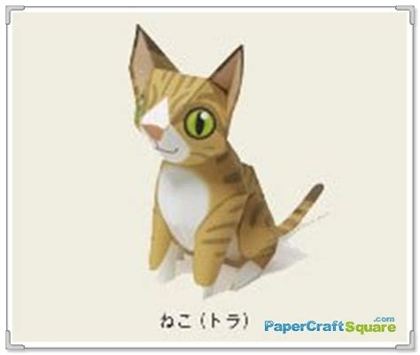 Cat Paper Craft - cat papercraft maruman papercraftsquare