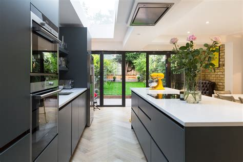 Kitchen Design L Shaped by Wrap Around Extension Specialist London Simply Extend