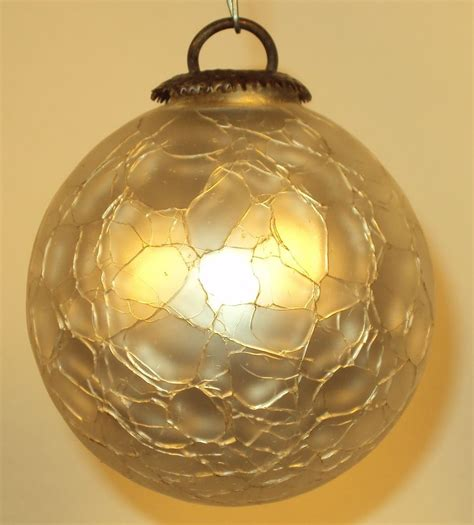 white gass kugel christmas ornament from rlreproshop on