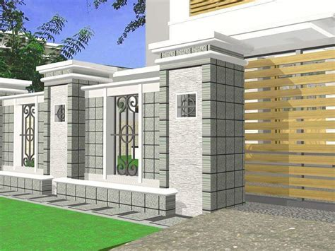 fence design minimalist home gallery  small home