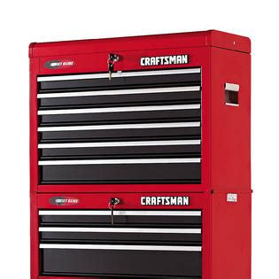 craftsman 6 drawer tool box quiet glide chest craftsman 26 quot wide 6 drawer quiet glide 174 top chest red black