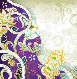 Flower Pattern Sofa أجمل مجموعة زخارف للفوتوشوب الجزء الثاني Stock Vector 2