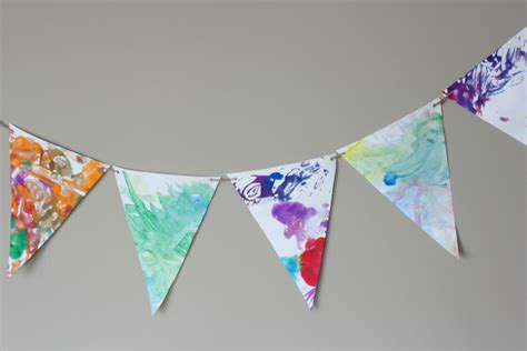 card bunting template a way to transform design improvised