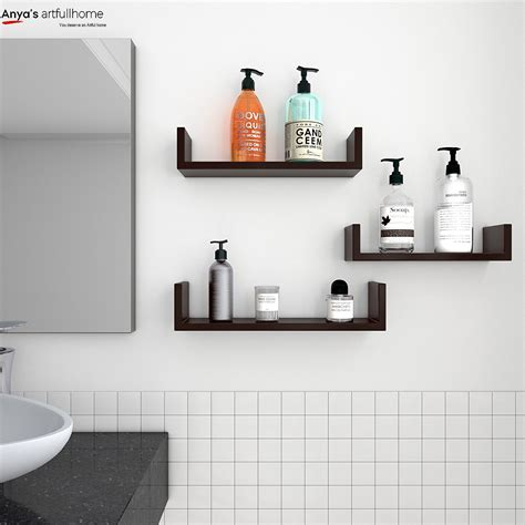 set   floating display shelves ledge bookshelf wall