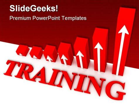 powerpoint templates for training training graph business powerpoint template 0910