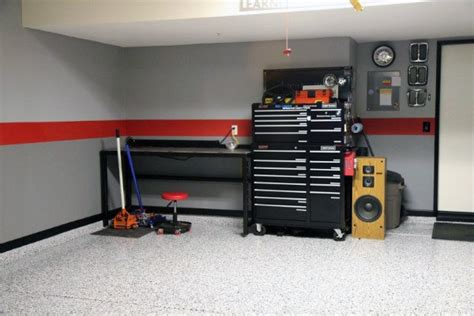 grey paint for garage walls interior paint stripes i like the gray walls with the black and