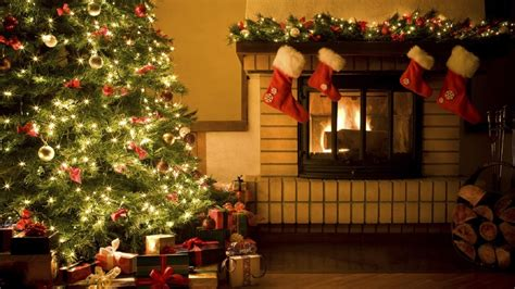 hd wallpapers christmas living room decorating ideas christmas xmas fireplace cristmas tree gifts xmas