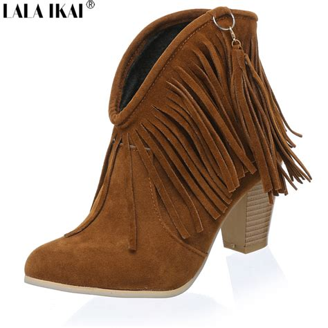 get cheap suede fringe boots aliexpress