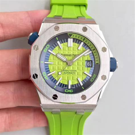 Audemars Piguet Royal Oak Offshore Diver Swiss Clone 1 1 Best Edition 1 replica audemars piguet royal oak offshore diver 15710st oo a038ca 01 jf stainless steel green