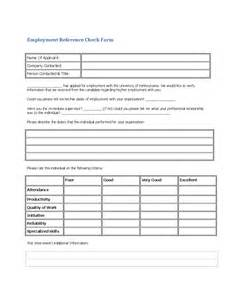 generic employee reference check form free
