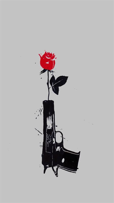 flower gun phone pinterest guns flower and tattoo