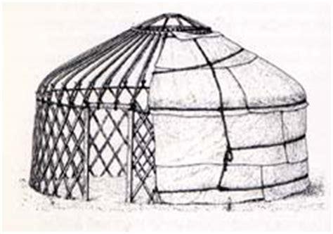 hutte mongole schema d une yourte