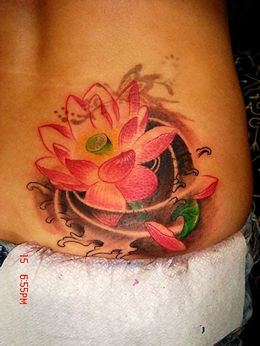 lotus tattoo on hip large image leave comment