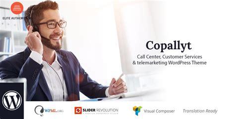 call center themes wordpress copallyt call center telemarketing wordpress theme zip