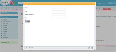 html layout checker salesforce how to create popup by clicking a custom