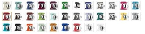 kitchenaid stand mixer colors kitchenaid mixer color chart kitchen aid colors