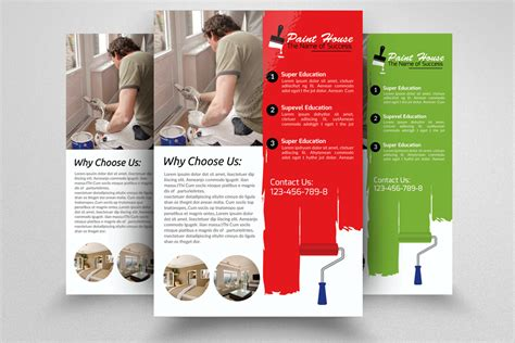 painting flyers templates free house paint contractor flyer flyer templates on creative