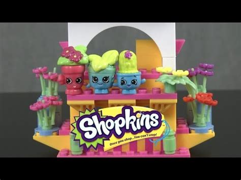 Shopkins Flower Stand shopkins kinstructions shopville town center from the b