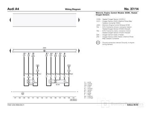 oxigen sensor audi a4 wiring diagram audi a4 controls