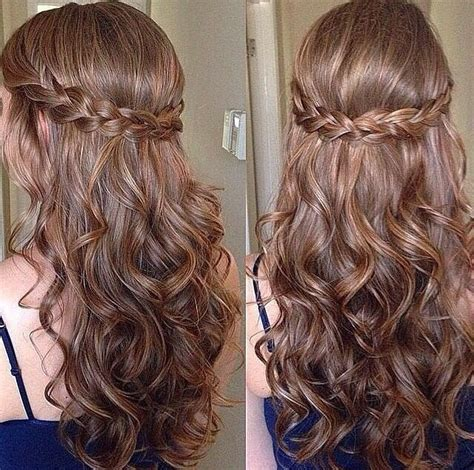 wedding hairstyles braids curls image result for braid half updo with curls hairstyles