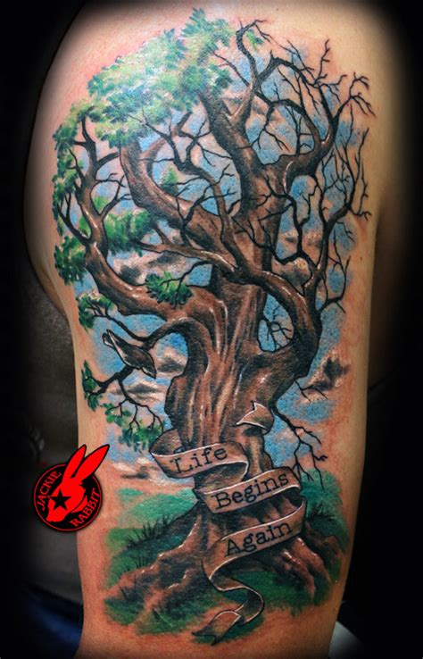 arm tattoo family tree awesome tree tattoo on upper arm for men real photo