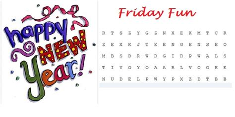 happy new year words in friday word search happy new year