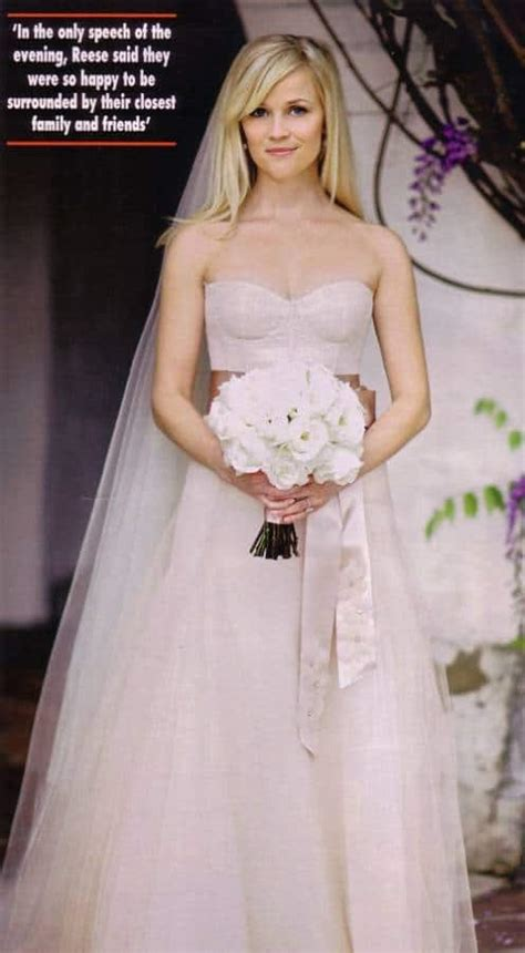Reese Witherspoon Wedding Gown by Reese Witherspoon Pink Wedding Dress