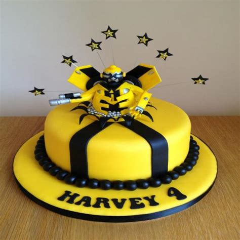 bumblebee transformers cake on transformers