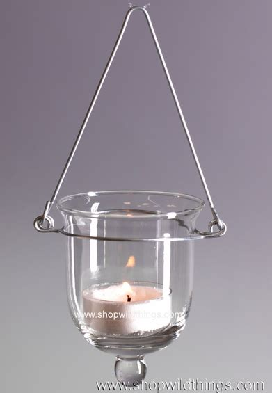 Hanging Tealight Holders by Hanging Glass Votive Candle Holders Shopwildthings