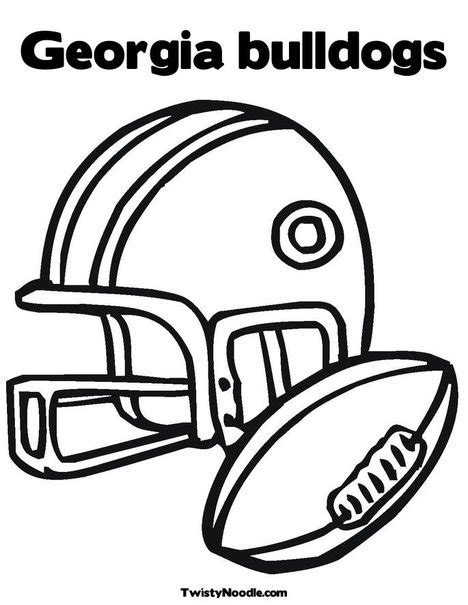 university of georgia bulldog coloring coloring pages