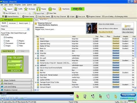 download mp3 from napster kazaa avideogamelife