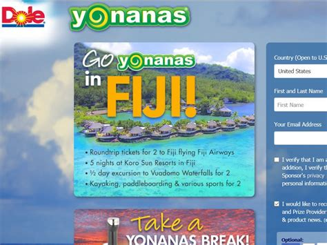 Stay Or Go Sweepstakes - go yonanas in fiji sweepstakes