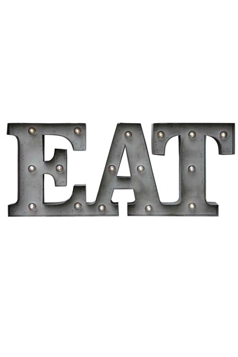 eat light up sign creative co op inc eat marquee led sign from south