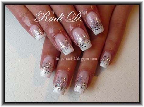Glitzer Nägel Galerie 2471 by Gallery For Gt White Glitter Tip Nails