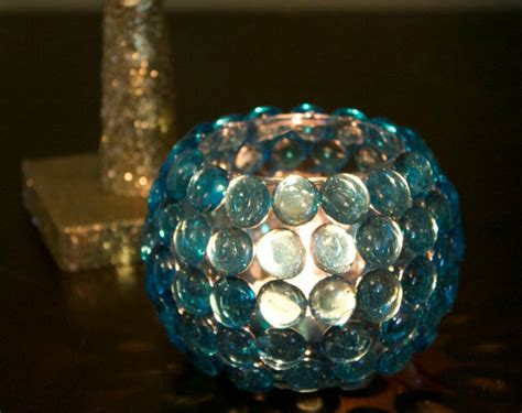 diy glass bead candle holder is simple easy and an