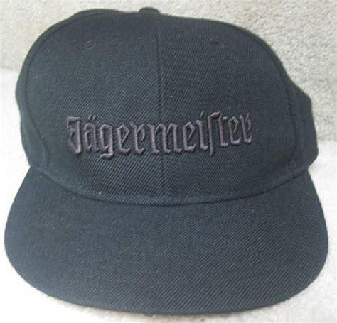 jagermeister black hat cap large xl nwt brand new