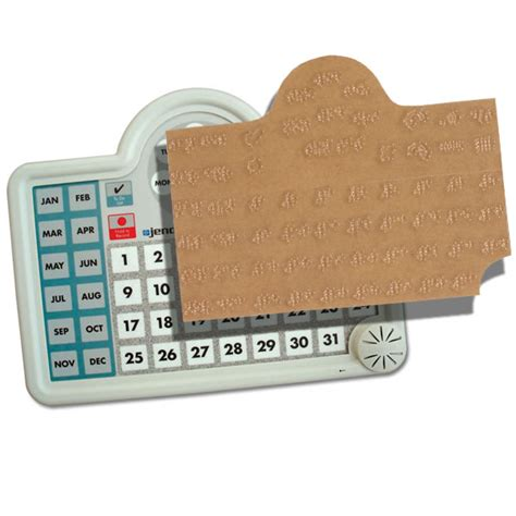 Talking Calendars For The Blind maxiaids braille sticker for lifetime voice calendar