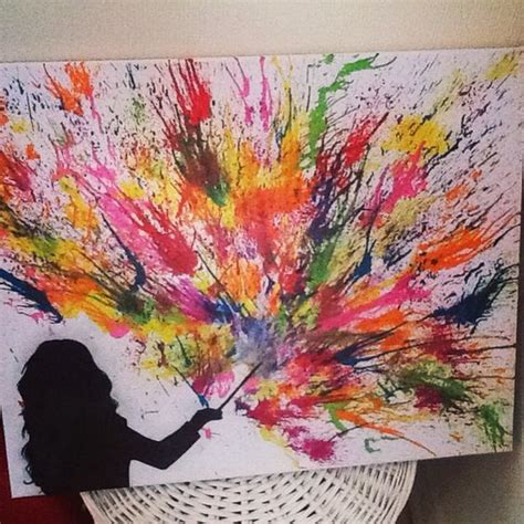 themes list art 28 fantastic melted crayon art ideas listing more