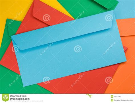 colored envelopes colored envelopes stock photography image 22152782