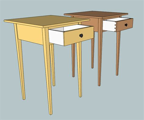 shaker end table designs plans diy free download how to