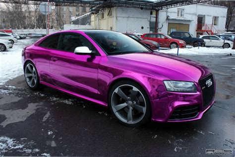 Verchromtes Auto by Audi Rs5 Chrome Purple Wrap Photo 3 Shades Of Purple