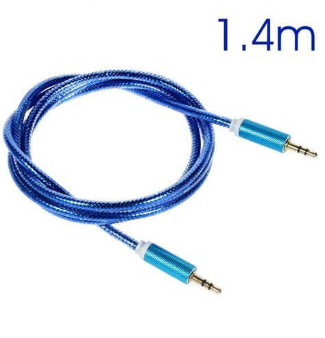 Kabel Aux 3 5mm Stereo 1 4meter bol shop4 audio kabel 3 5mm aux kabel stereo 1 4 meter blauw