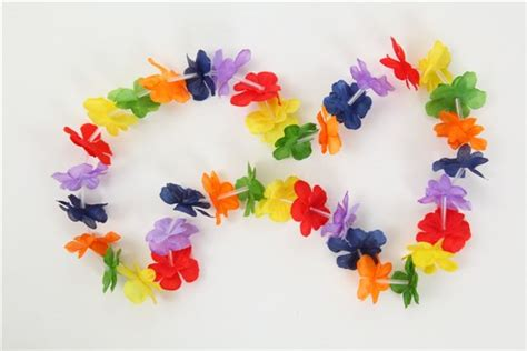How To Make Hawaiian Paper Flowers - hawaiian flower leis partywarehouse co nz